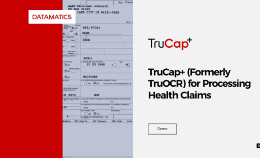 TruCap+ (Formerly TruOCR) for Processing Health Claims Demo