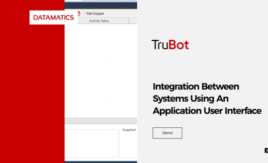 Integration Between Systems Using An Application User Interface Demo