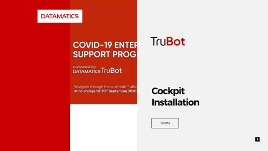 Datamatics TruBot Cockpit Installation Demo